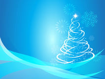 Christmas curve tree background Royalty Free Stock Photos