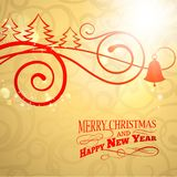 Christmas curving sign. Royalty Free Stock Photo