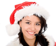 Christmas customer service Stock Photo