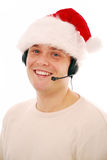 Christmas customer service worker Royalty Free Stock Photos