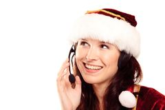 Christmas Customer Support Royalty Free Stock Photos