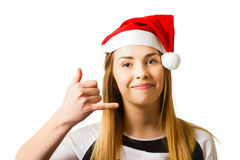Christmas customer support line Royalty Free Stock Photos