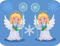 Christmas cute angels set Stock Photography