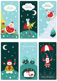 Christmas cute banners Stock Photo
