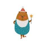 Christmas cute bear Royalty Free Stock Image