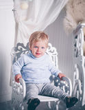 Christmas cute boy Stock Image