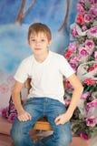 Christmas cute boy Royalty Free Stock Photography