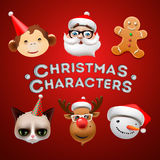 Christmas cute characters Stock Photo