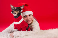 Christmas cute friends Royalty Free Stock Images