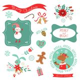 Christmas cute graphic elements Royalty Free Stock Image