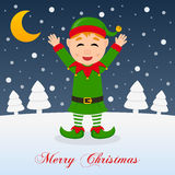 And So This Is Christmas - Cute Green Elf Royalty Free Stock Photo