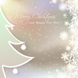 Christmas cute greeting card Royalty Free Stock Images