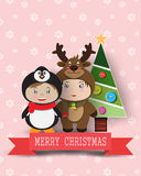 Christmas cute kids Royalty Free Stock Image