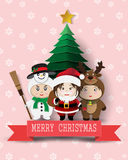 Christmas cute kids Stock Photography
