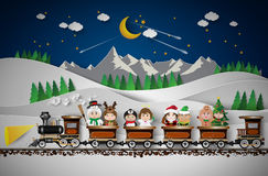 Christmas cute kids Stock Images
