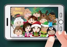 Christmas cute kids Royalty Free Stock Photos