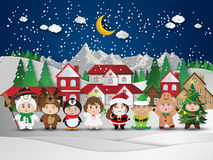 Christmas cute kids Stock Image