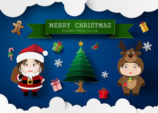 Christmas cute kids Royalty Free Stock Photography