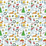 Christmas cute seamless Royalty Free Stock Photo