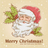 Christmas with cute smiling Santa Claus Royalty Free Stock Image