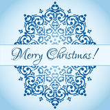 Christmas cute snowflake design Stock Photo