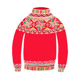 Christmas cute vector sweater  on white Royalty Free Stock Image