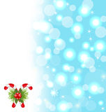 Christmas cute wallpaper with sparkle Stock Photography