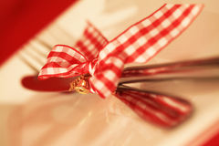 Christmas Cutlery. Royalty Free Stock Photos