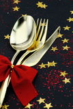 Christmas cutlery Stock Photography