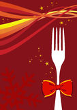 Christmas cutlery background Stock Images