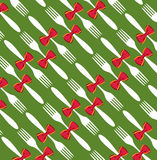 Christmas cutlery pattern background Royalty Free Stock Photo