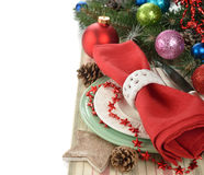 Christmas cutlery Royalty Free Stock Images