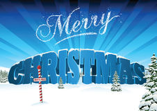 Christmas 3D Text Card Royalty Free Stock Photography