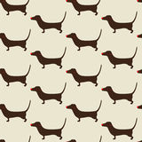 Christmas dachshund Pattern Stock Photography