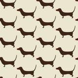 Christmas dachshund Pattern Stock Photography