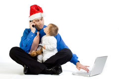 Christmas Dad Stock Image