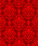 Christmas damask pattern Royalty Free Stock Photo