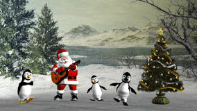 Christmas dance. 3d render of Christmas dance Stock Photos