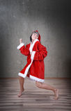 Christmas dance and wow Royalty Free Stock Image