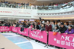 Christmas dancing event in Metro City Plaza in Hong Kong Royalty Free Stock Photos