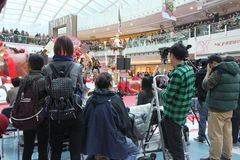 Christmas dancing event in Metro City Plaza in Hong Kong Royalty Free Stock Image