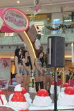 Christmas dancing event in Metro City Plaza in Hong Kong Stock Photography