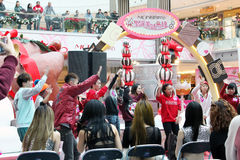 Christmas dancing event in Metro City Plaza Hong Kong Royalty Free Stock Images