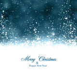 Christmas dark blue abstract background. Royalty Free Stock Photo