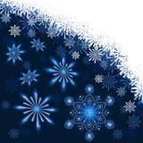 Christmas dark blue background Stock Image