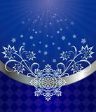 Christmas dark blue background Stock Photo