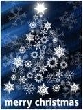Christmas dark blue card Royalty Free Stock Image