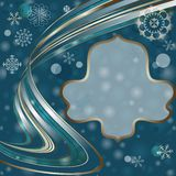 Christmas dark blue frame Royalty Free Stock Photos
