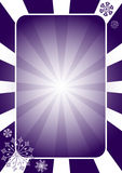 Christmas dark blue  frame with rays Royalty Free Stock Image