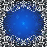 Christmas dark blue greeting card Royalty Free Stock Photos